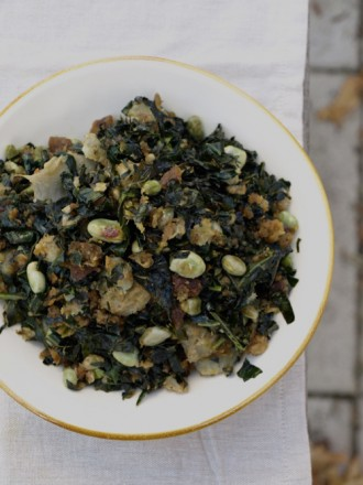 kale and broad bean salad 2
