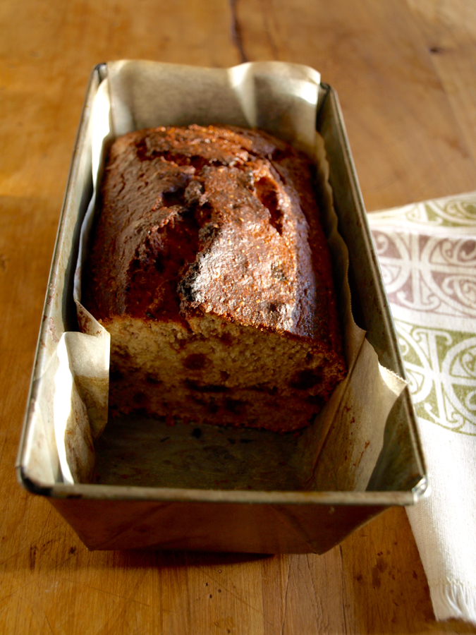 Banana, date and wheatgerm loaf