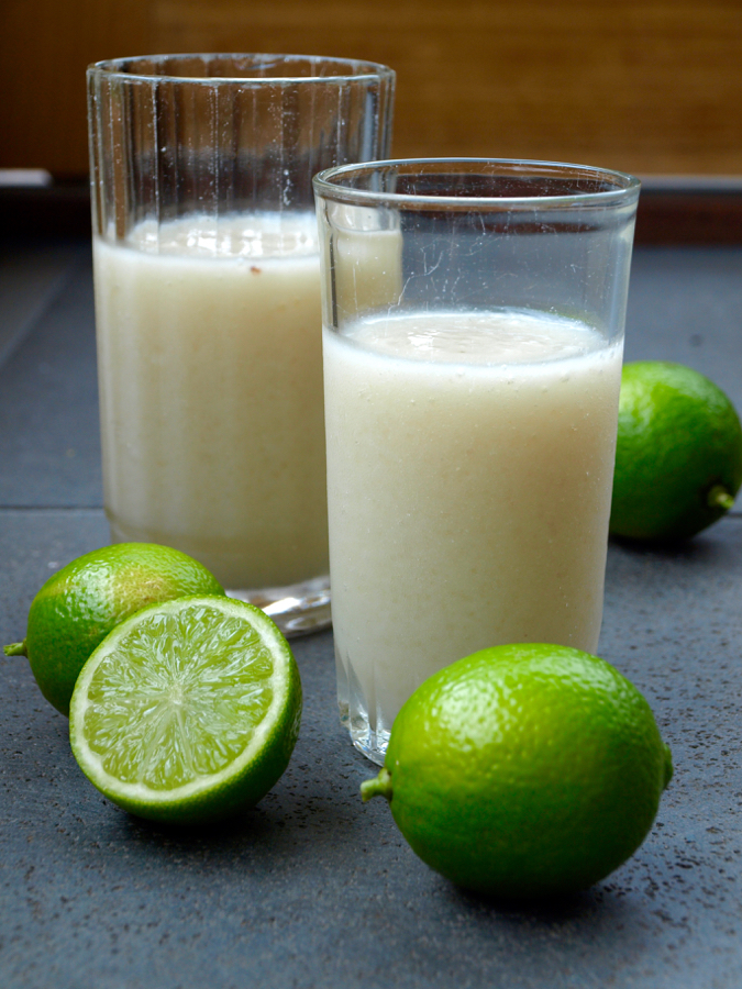 Custard apple and lime drink