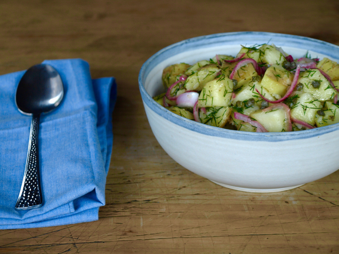 Potato, dill and caper salad