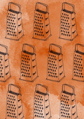 Graters, illustration by Katherine Bird